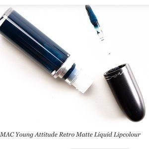 Mac retro liquid lip in the shade young attitude.